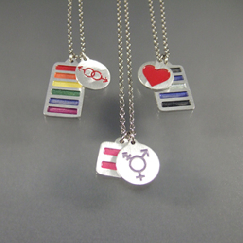 Tansgender Pride pendant or pin